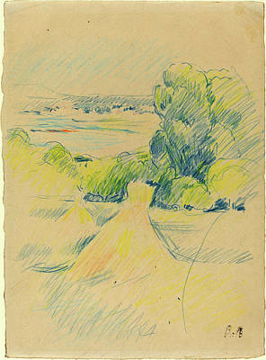 Berthe Drawing - Berthe Morisot, French 1841-1895, Landscape by Litz Collection