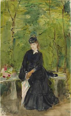 Morisot Drawing - Berthe Morisot French, 1841 - 1895, The Artists Sister Edma by Quint Lox