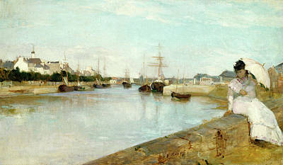 Berthe Morisot, The Harbor At Lorient, French Art Print by Litz Collection