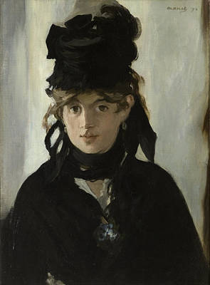 Manet Painting - Berthe Morisot With A Bouquet Of Violets by Edouard Manet