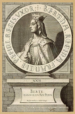 Berthe,  Queen Of Pepin Le Bref, King Art Print by Mary Evans Picture Library