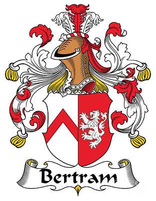 Bertram Digital Art - Bertram Coat Of Arms German by Heraldry
