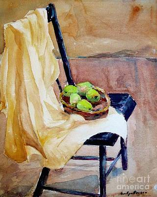 Painting - Bert's Basket Of Pears  by Nancy Patterson