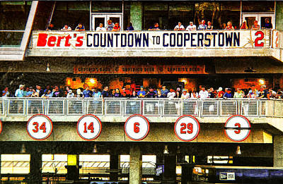 Minnesota Twins Digital Art - Bert's Countdown To Cooperstown by Susan Stone