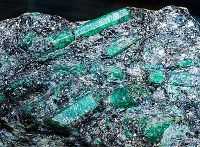 Photograph - Beryl Crystals by Millard H Sharp