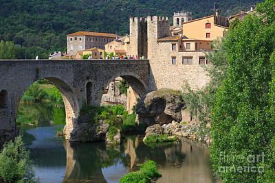 Besalu A Medieval Town In Catalonia Spain Art Print by Louise Heusinkveld