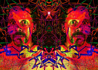 Beside Myself With Entropic Axis 2014 Art Print by James Warren
