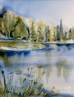 Painting - Beside The Lake by Donna Acheson-Juillet