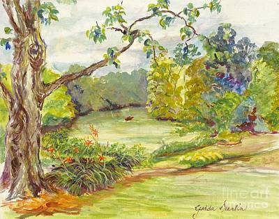 Indiana Rivers Painting - Beside The River by Gedda Runyon Starlin