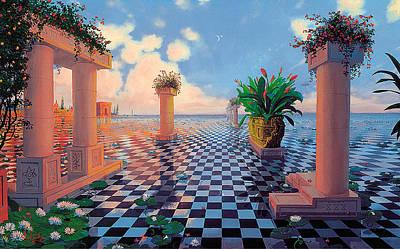 Atlantis Painting - Beside The Still Waters by Loren Adams