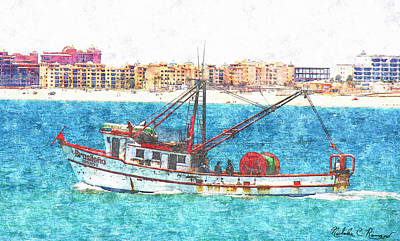 Sea Of Cortez Painting - Brasileno Mexican Fishing   by Nicholas Romano