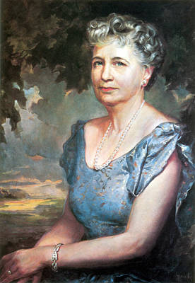 Painting - Bess Truman, First Lady by Science Source
