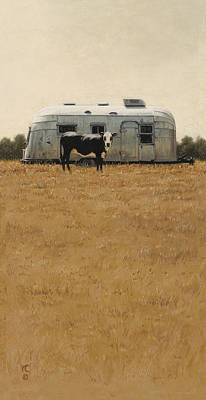Painting - Bessie Wants To Travel by Ron Crabb
