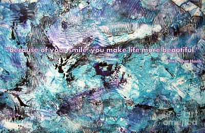 Besso Monotype Smile Art Print by Marlene Rose Besso