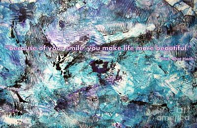 Digital Art - Besso Monotype Smile by Marlene Rose Besso