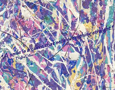 Digital Art - Besso Pollock Smile Quotes by Marlene Rose Besso