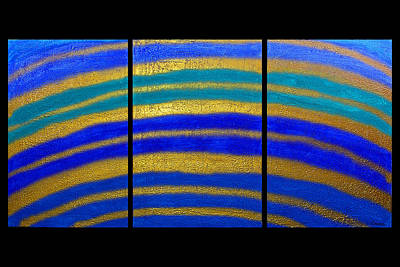 Best Art Choice Award Original Abstract Oil Painting Modern Blue Contemporary House Deco Gallery Art Print by Emma Lambert