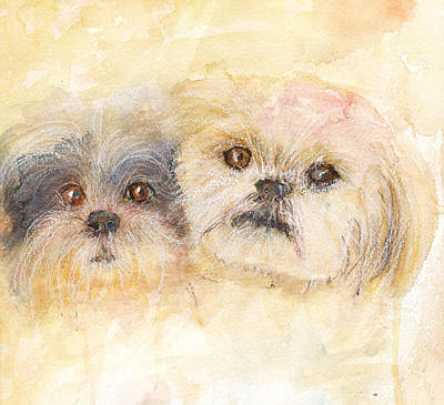 Best Buddies Art Print by Peggy Bosse