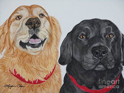 Pet Portraits Painting - Best Buds by Megan Cohen