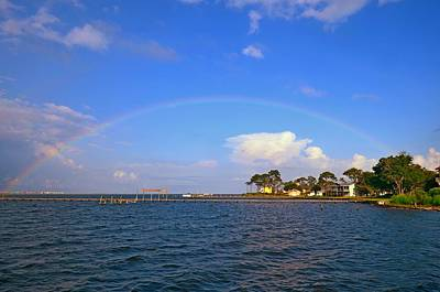 Photograph - Best Complete Rainbow Over Santa Rosa Sound1 by Jeff at JSJ Photography