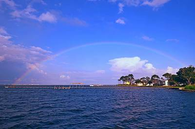 Photograph - Best Complete Rainbow Over Santa Rosa Sound2 by Jeff at JSJ Photography