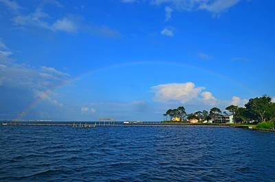 Photograph - Best Complete Rainbow Over Santa Rosa Sound3 by Jeff at JSJ Photography