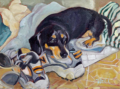 Painting - Best Dog In The Whole World by Pattie Wall