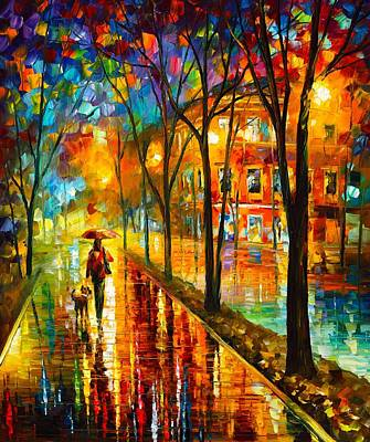Oil Landscape Painting - Best Friend by Leonid Afremov