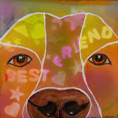 Dog Portrait Painting - Best Friend by Roger Wedegis