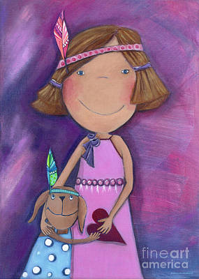 Crafts For Kids Painting - Best Friends Forever by Sonja Mengkowski
