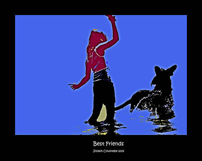 Digital Art - Best Friends by Joseph Coulombe