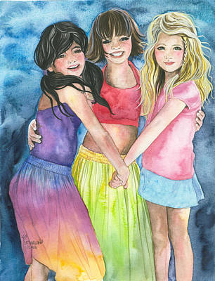 Painting - Best Friends by Kim Sutherland Whitton
