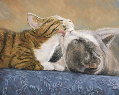 Indoors Painting - Best Friends by Lucie Bilodeau
