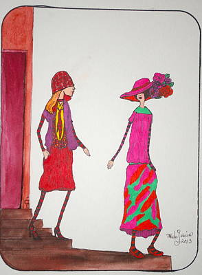 Drawing - Best Friends by Mary Kay De Jesus