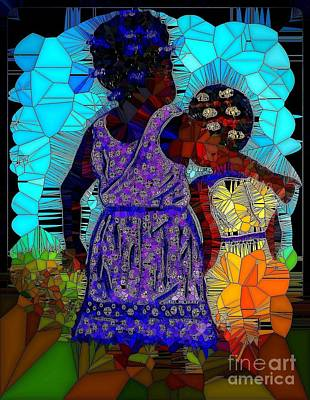 Painting - Best Friends Mosaic by Saundra Myles