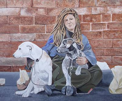 Homeless Pets Painting - Best Friends by R Ceesay