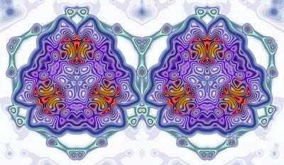 Melting Together Digital Art - Best Friends by Renee Trenholm