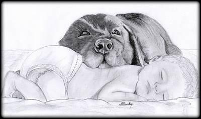 Best Friends Art Print by Saki Art
