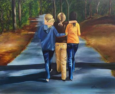 Painting - Best Friends by Vikki Angel