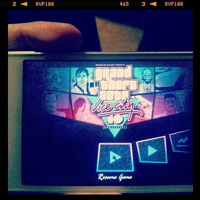 Iphone 4 Photograph - Best Game Ever! #gta #vicecity #iphone by Nick Matthis