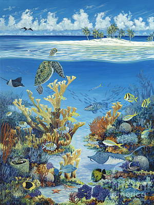 Ocean Turtle Painting - Best Of Both Worlds by Danielle  Perry