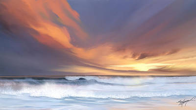 Coast Digital Art - Best Of Days by Anthony Fishburne