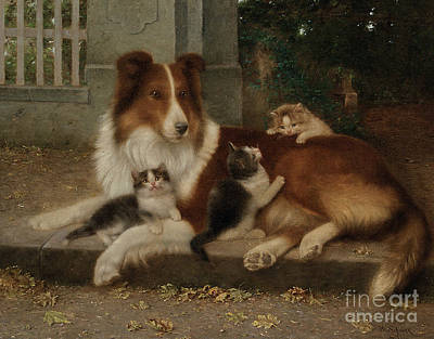 Best Of Friends Art Print by Wilhelm Schwar