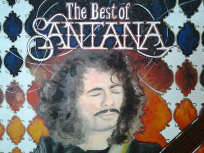 Carlos Santana Painting - Best Of Santana by Sonia Rodriguez