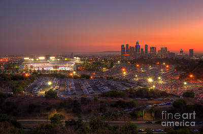 Los Angeles Skyline Photograph - Best Seat In The House by Eddie Yerkish