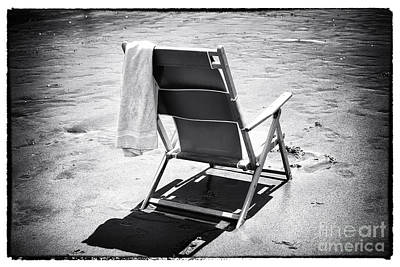 Folding Chair Photograph - Best Seat by John Rizzuto