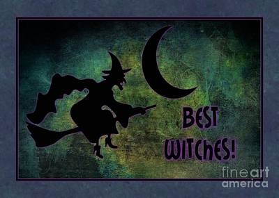 Digital Art - Best Witches by JH Designs