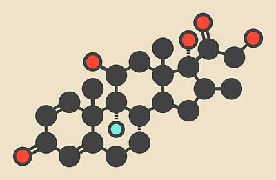 Dermatology Photograph - Betamethasone Drug Molecule by Molekuul