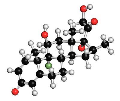 Betamethasone Steroid Molecule Art Print by Molekuul