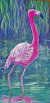 Beta's Flamingo Art Print by Harriett Masterson